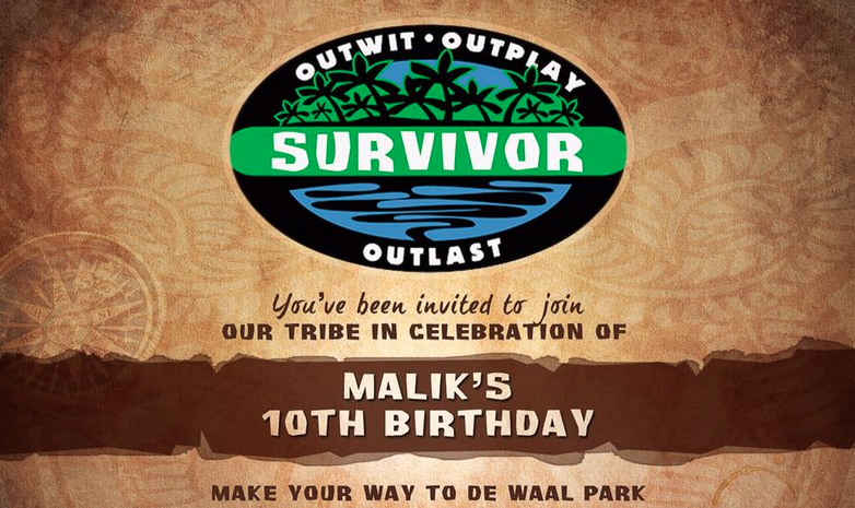 Outwit outlast outparty a survivor themed party rupert roo Home decor survivor 4